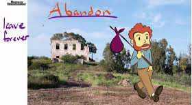 واژه Abandon | جایی را کامل ترک کردن