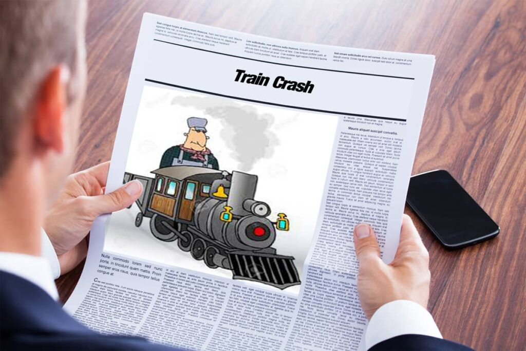 متن خبر انگلیسی - Train Crash - English News