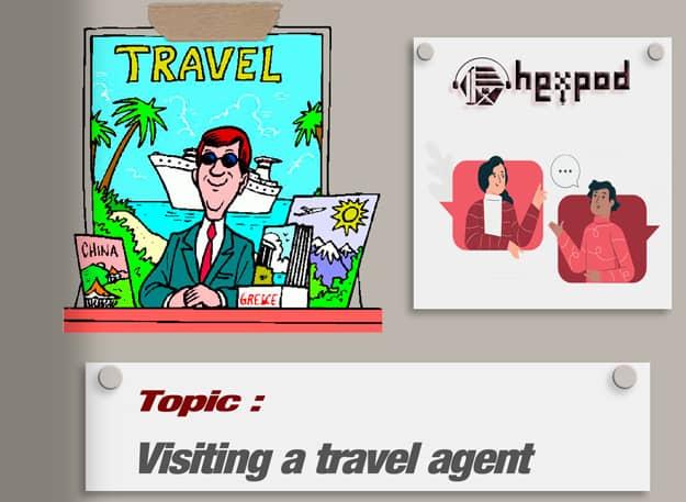 مکالمه موضوعی زبان انگلیسی - سطح مبتدی - Visiting a travel agent - English conversation
