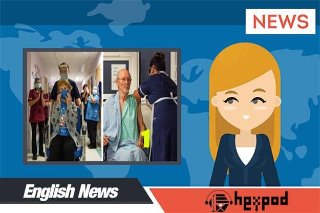 متن خبر انگلیسی - First Person Gets a Vaccine - English News