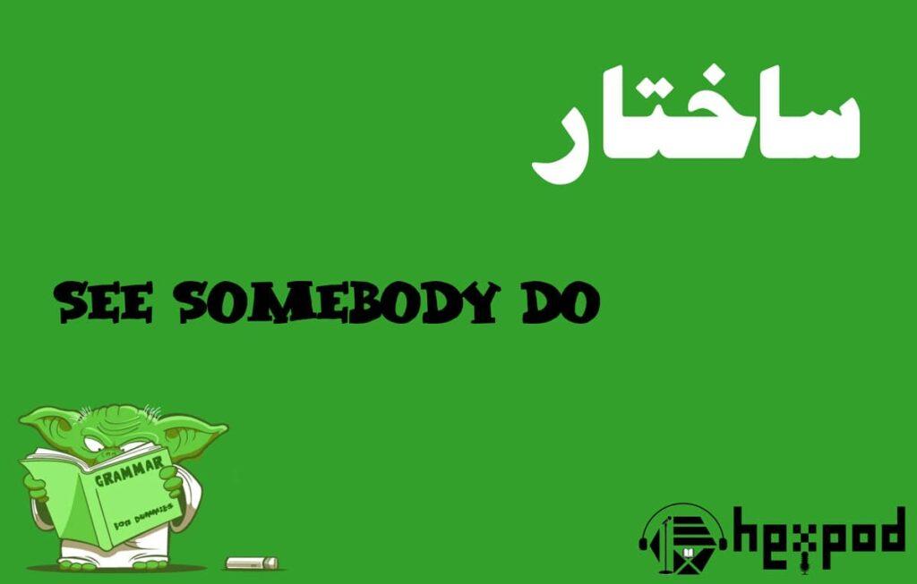 آموزش گرامر - تفاوت See somebody do و See somebody doing - بررسی ساختار های گرامری See somebody do