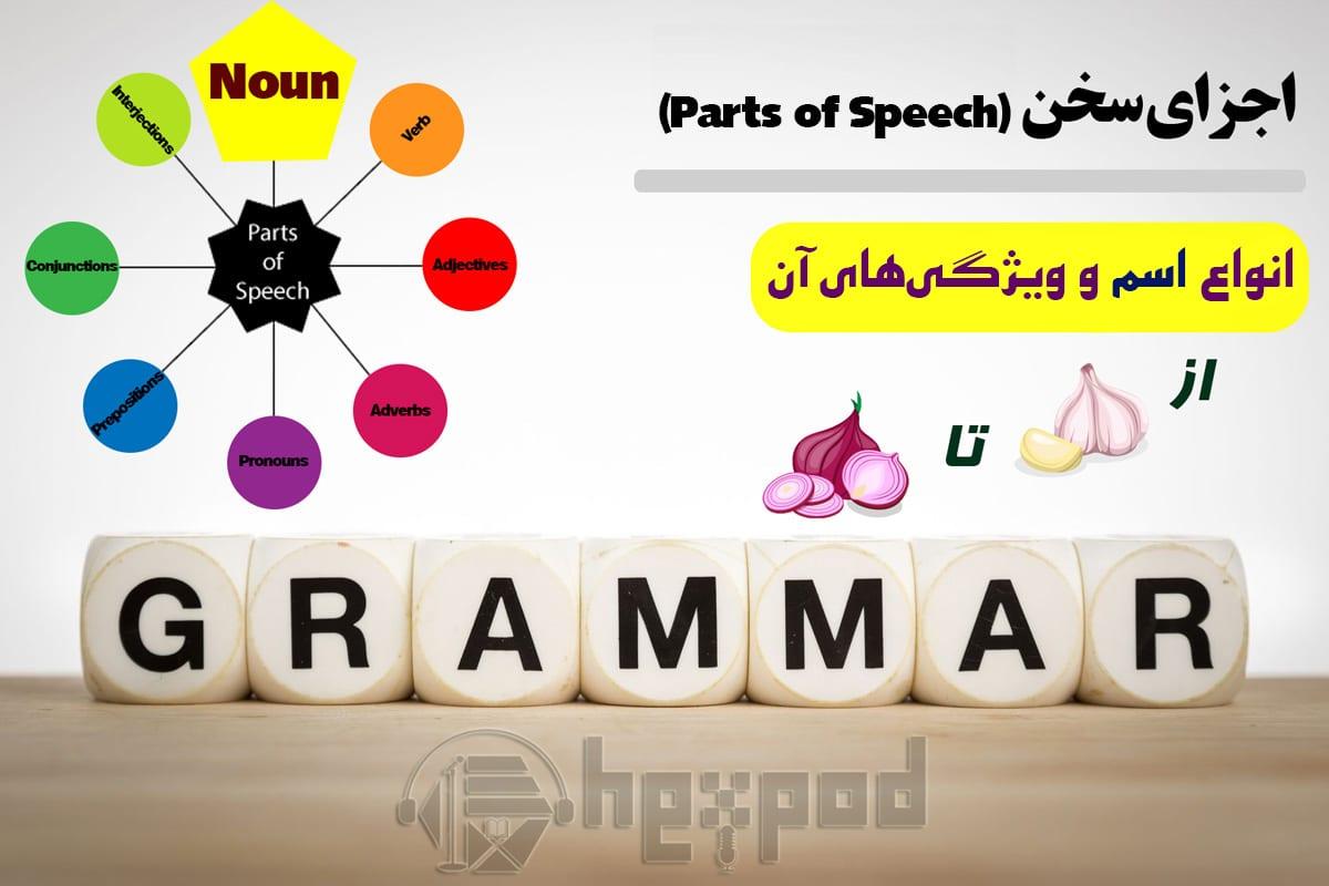 اجزای سخن در زبان انگلیسی - انواع اسم و ویژگی های آن - Parts of speech in English (Nouns)