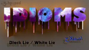 اصطلاح زبان انگلیسی - Idioms - Black Lie - White Lie