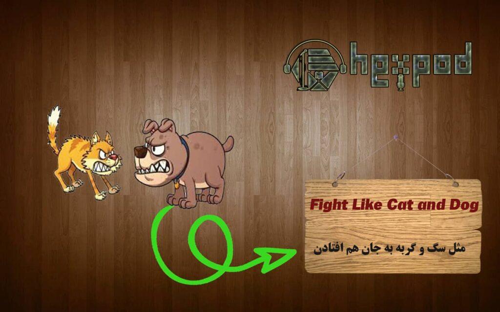 اصطلاح زبان انگلیسی - Idioms - Fight Like Cat and Dog
