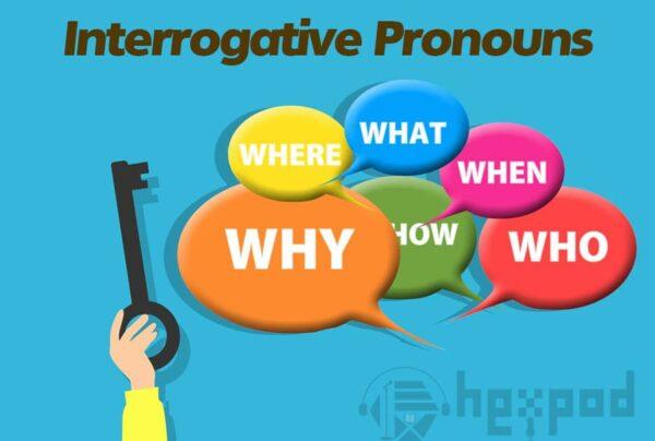 اجزای سخن - انواع ضمایر در انگلیسی - ضمایر پرسشی در انگلیسی