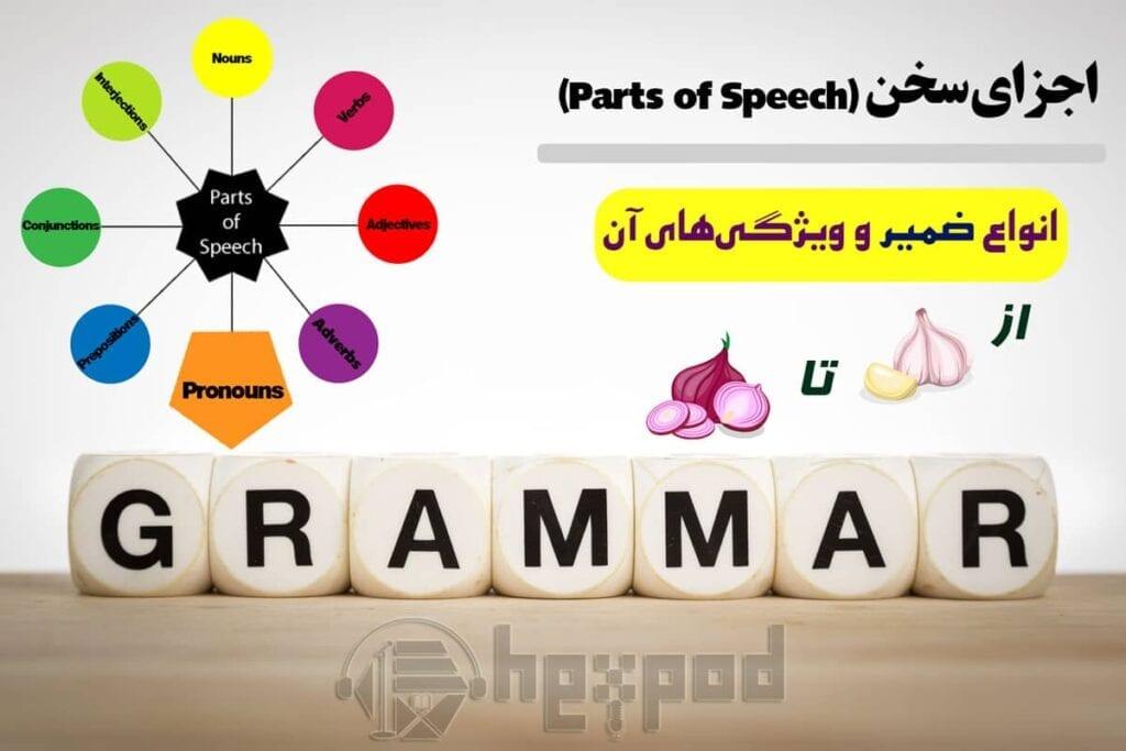 اجزای سخن - انواع ضمایر در انگلیسی