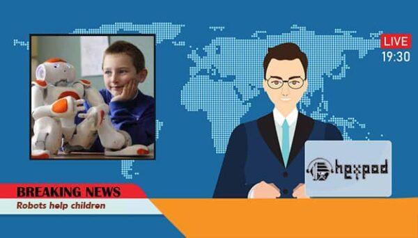 اخبار انگلیسی با متن - Robots help children
