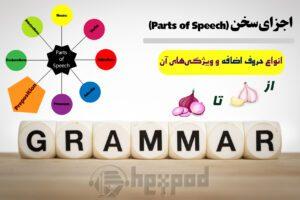 اجزای سخن - انواع حروف اضافه در انگلیسی